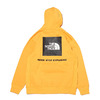 THE NORTH FACE BACK SQUARE LOGO HOODIE SUMMIT GOLD NT62040-SG画像