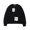 UGG BLOCKING SWEAT BLACK 20AW-UGTP04画像