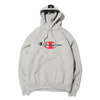 Champion × ATMOS LAB P/O HOODED SWEATSHIRT GREY C8-S114-070画像