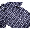 INDIVIDUALIZED SHIRTS L/S STANDARD FIT B.D. CHECK FLANNEL SHIRTS navy x grey画像