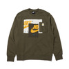 NIKE AS M NSW CRW BB NW MEDIUM OLIVE/SAIL/DARK SULFUR DC6732-222画像