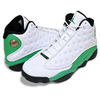 NIKE AIR JORDAN 13 RETRO white/lucky green-black DB6537-113画像