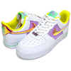 NIKE WMNS AIR FORCE 1 07 white/multi-color-lemon venom CW5592-100画像