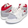 NIKE AIR JORDAN 1 MID PRM Sneakersnstuff sail/wolf grey-gym red-white CT3443-100画像