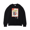 PUMA atmos × THREE TIDES TATTOO crew neck sweat BLACK 921468-01画像
