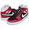 NIKE WMNS AIR JORDAN 1 MID gym red/white-black BQ6472-601画像