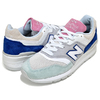 new balance M997SOA MADE IN U.S.A. WHITE, MINT & PINK画像