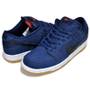 NIKE SB DUNK LOW PRO ISO ORANGE LABEL midnight navy/blk CW7463-401画像