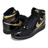 NIKE AIR JORDAN 1 HIGH OG (GS) black/metallic gold 575441-032画像