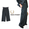 FRED PERRY Lady's F8594 BlackWatch Trousers画像