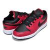NIKE AIR JORDAN 1 LOW (GS) gym red/black-white 553560-605画像