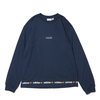 adidas LINEAR REPEAT LS TEE CREW NAVY GN3881画像