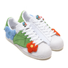 adidas SST FOOTWEAR WHITE/ORANGE TINT/SILVER画像