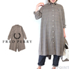 FRED PERRY Lady's #F8608 FishtailShirtDress GlenCheck画像