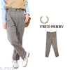 FRED PERRY Lady's #F8620 SmartTrousers GlenCheck画像