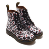 Dr.Martens CORE PRINT 1460 PASCAL BLACK+RED PANSY FAYRE VINTAGE SMOOTH BLACK 26456002画像