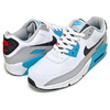 NIKE AIR MAX 90 LTR(GS) white/iron grey-chlorine blue CD6864-108画像