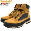 Timberland FIELD TREKKER Waterproof Boot Wheat Nubuck with Black A1Z7X画像
