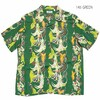"SUN SURF S/S RAYON HAWAIIAN SHIRT ""TARO LEAF AND ANGEL'S TRUMPET"" SS38562画像"