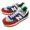 new balance ML574DRY BLUE/RED画像