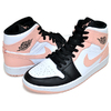 NIKE AIR JORDAN 1 MID white/arctic orange-black 554724-133画像