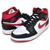 NIKE AIR JORDAN 1 MID white/gym red-black 554724-122画像