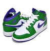 NIKE AIR JORDAN 1 MID (GS) aloe verde/court purple-white 554725-300画像