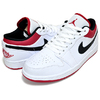NIKE AIR JORDAN 1 LOW white/gym red-black 553558-118画像