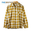 FIVE BROTHER LIGHT FLANNEL L/S ONEUP SHIRTS OMBRE MUSTARD 152101画像
