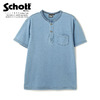 Schott INDIGO CLASSIC HENLEY T-SHIRT 3113108画像