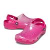 crocs Classic Translucent Clog Candy Pink 206908-6X0画像