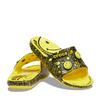 crocs Classic Crocs Smiley Slide Lemon/Black 207123-7B3画像