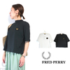 FRED PERRY Lady's #G1156 HighNeck BadgeDetail T-shirt画像