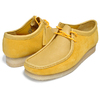 Clarks WALLABEE YELLOW SUEDE 26154742画像