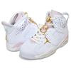 NIKE WMNS AIR JORDAN 6 RETRO GOLD HOOPS white/metallic gold DH9696-100画像