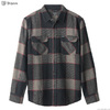 Brixton BOWERY L/S FLANNEL (HEATHER GREY/CHARCOAL) 01213画像