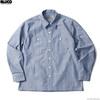 BLUCO STANDARD WORK SHIRTS L/S (SAX-GRY.STP) OL-109-021画像