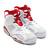 NIKE AIR JORDAN 6 RETRO WHITE/GYM RED-PURE PLATINUM 384664-113画像