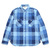 BURGUS PLUS L/S Indigo Check Work Shirt Indigo Block Check HBP-300CK画像
