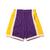 Mitchell & Ness NBA SWINGMAN ROAD SHORTS LAKERS 84-85 PURPLE SMSHGS18235-LAL画像